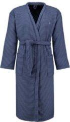 Blauwe Marc O'Polo Jaik badjas van katoen met streepdessin