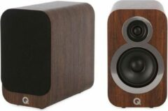 Bruine Merkloos / Sans marque Q Acoustics 3010i Compacte Boekenplank Luidsprekers - Walnoot (per paar)