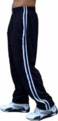 Trenas Strydom Crazee Wear - Fitnessbroek - Mesh Pant - Heren - Maat S - Zwart-met dubbele witte streep - MPP