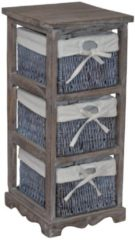 Möbel direkt online Moebel direkt online Massivholzregal Regal Vintage-Regal - Regal mit 3 Körben In 2 Farben lieferbar