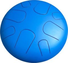 Blauwe LIDAH® Steel Tongue Drum - A-mineur Constellation Series (28 cm) – Handpan - Lotus Drum – Klankschaal – Meditatie - Yoga