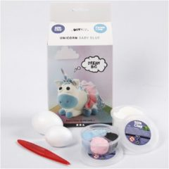 Silk Clay knutselset Funny Friends Baby Blue 8-delig
