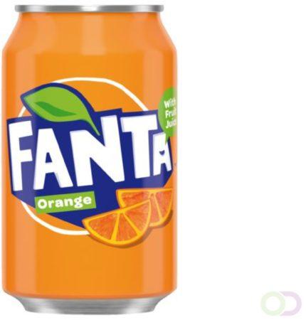 Afbeelding van Frisdrank Fanta Orange blikje 0.33l