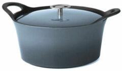 Blauwe Cuisinox braadpan Cast Iron casserole