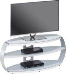 Maja TV-Rack Theiß, ca. 122x51x45 cm, alu/Glas platingrau