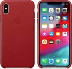 Leren Hoesje Voor Iphone Xs Max - (Product) Rood