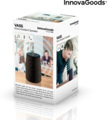 Zwarte InnovaGoods VASS Intelligent Bluetooth Speaker Voice Assistant