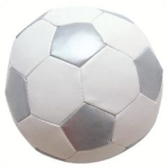 Zilveren BamBam Knuffel voetbal zilver