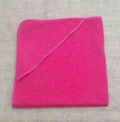 Baby badcape / omslagdoek fuchsia roze - 100% katoen - Funnies