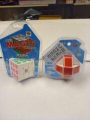 VDTOYS CE Set van 2 : 1 maal puzzel magic snake plus 1 maal Puzzelkubus 3x3