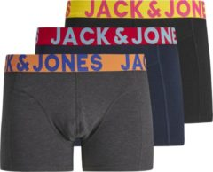 Blauwe Jack & Jones JACK&JONES ACCESSORIES JACCRAZY SOLID TRUNKS 3 PACK NOOS Heren Onderbroek - Maat S