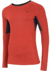 Rode T-Shirt Lange Mouw 4F Men's Functional Longsleeve NOSH4-TSMLF002-62M