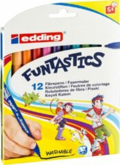 Paarse Edding Funtastics 12 Dunne Stiften