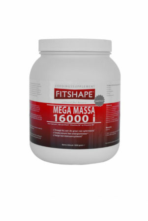 Afbeelding van Fitshape Mega Massa 16000 I Proteïne Shake 2500 g - Vanille