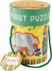 Floss & Rock Jungle - puzzels - 11 x 15 cm - 4 stuks