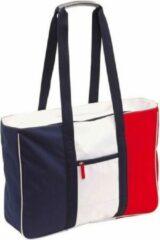 Merkloos / Sans marque Strandtas blauw/rood/wit 47 cm - Strandartikelen beach bags/shoppers