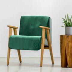 Donkergroene Brulo Beddensprei sprei kleur Donker groen 70X160cm 100% POLYESTER