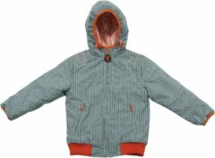 Blauwe Ducksday omkeerbare winterjas unisex - Manu - 10 jaar