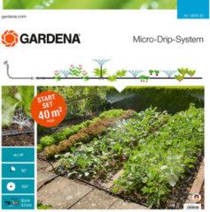 Zwarte GARDENA Micro Drip startset - Geschikt voor bloembedden - moestuinen - geschikt voor 40m²