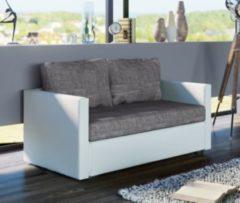 2er Schlafsofa Sofabett Couch Sofa mit Schlaffunktion 'Sinsa Weiß' 60 x 122 x 78 cm VCM Weiss, Grau