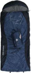10-T Outdoor Equipment 10T Dolphin 300 - Kinder Decken-Schlafsack mit Halbmond-Kopfteil 180x75cm blau/dunkelblau Motivdruck bis +10°C