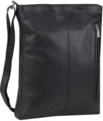 Soft Nappa Damentaschen Umhängetasche Leder 28 cm Mika Lederwaren schwarz