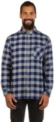 Blue Quiksilver Motherfly Flannel Shirt LS
