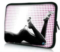 Paarse False Sleevy 14 laptophoes sexy lady - Laptop sleeve - Macbook hoes - beschermhoes