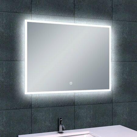 Afbeelding van Douche Concurrent Badkamerspiegel Wiesbaden Quatro 80x60cm Geintegreerde LED Verlichting Verwarming Anti Condens Touch Lichtschakelaar Dimbaar