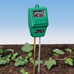 Drievoudige plantentester voor vocht, pH-waarde en licht