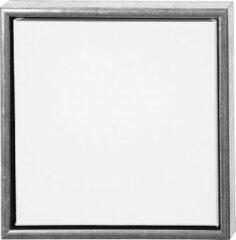 Merkloos / Sans marque Canvas schildersdoek met lijst zilver 34 x 34 cm - Hobby - Verven - Schilderen - Creatief met verf - Ingelijste doeken
