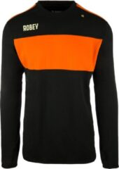 Licht-grijze Nike Robey Sweater - Voetbaltrui - Black/Orange - Maat 164