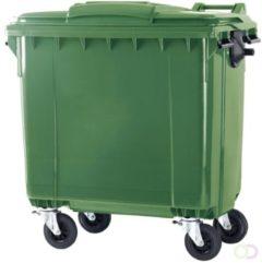 VEPABINS | Container | Deksel en 4 wielen | 770 liter | Groen