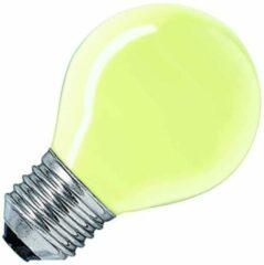 Huismerk gloeilamp Kogellamp geel 25W grote fitting grote fitting E27