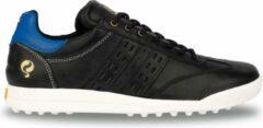Bruine Q1905 Heren Golfschoen Pitch - Zwart/Hard Blauw