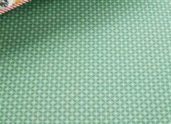 Pip Studio hoeslaken Cross Stitch groen - 90x200 cm
