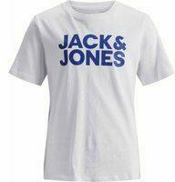 Jack & Jones! Jongens Shirt Korte Mouw - Maat 140 - Wit - Katoen