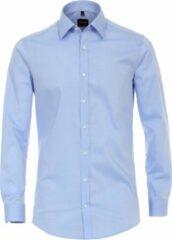 Venti Heren Overhemd ML7 Effen Lichtblauw Kent Poplin Body Fit - 44