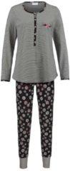 Schlafanzug Ringella schwarz/ecru/rot