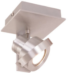 Steinhauer Quatro - Plafondspot - 1 lichts - LED - Staal