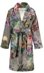 Taupe Essenza Fleur badjas van fleece