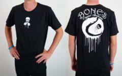 Zwarte Bones Sportswear Heren tennis T-shirt Cotton Drip maat M
