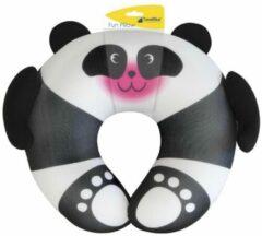 Zwarte Travelbleu Nekkussen kinderen - panda