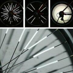 Zilveren KELERINO. Fietsreflector - Reflector - Spaakreflectoren - 72 Stuks