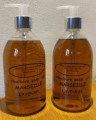Provendi Vloeibare Marseille zeep, pompje 2 x 500 ml Lavendel