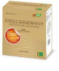 Sofar Collagenvit integratore alimentare di vitamine C ed E collagenE 30 bustine gusto cioccolato