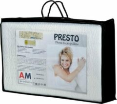 AM Products - Talalay Presto - Latex - Hoofdkussen - Wit - Medium - 10cm