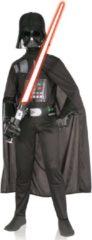 Zwarte Star Wars Klassiek Darth Vader™ kostuum voor kinderen - Verkleedkleding