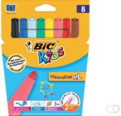 Bickids Kleurstift Bic Kids Visacolor XL blister à 8 stuks assorti