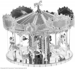 Zilveren Metal Earth Merry Go Round modelbouwset